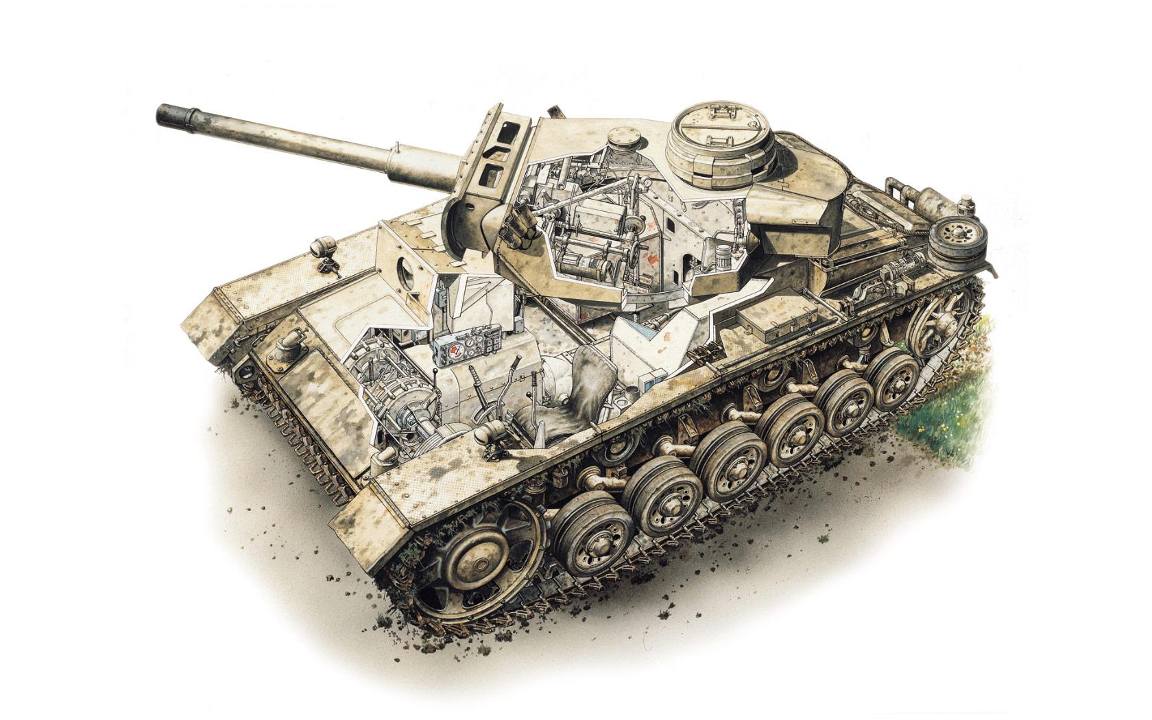 Panzer III cutaway
