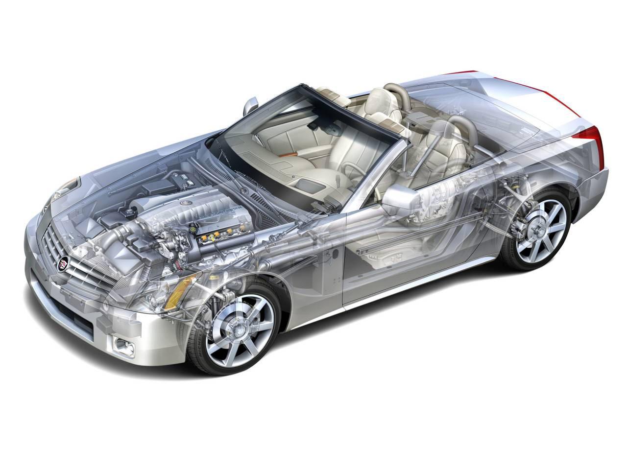 Cadillac XLR cutaway