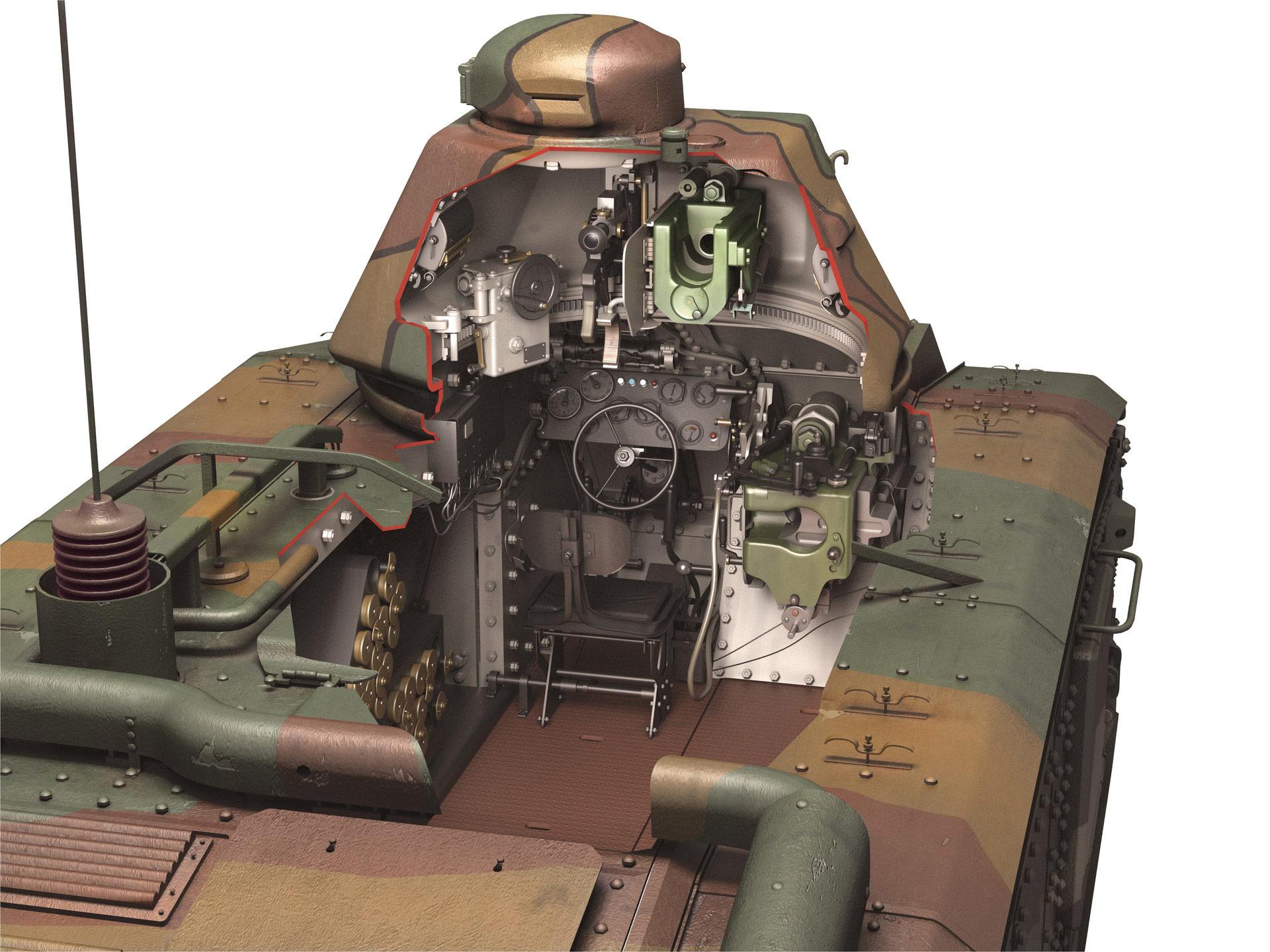 Char B1 cutaway