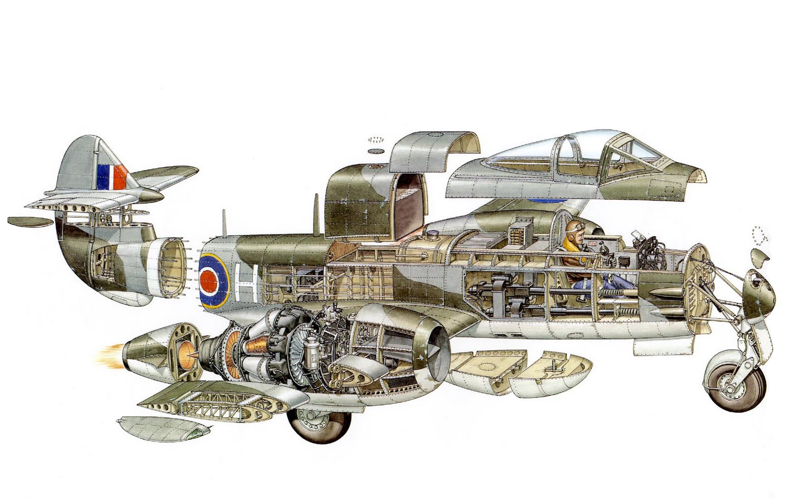 Gloster Meteor cutaway
