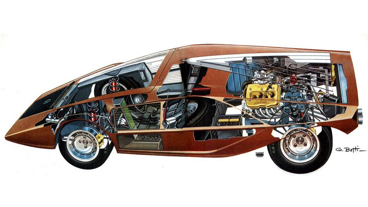 Lancia Stratos Zero cutaway