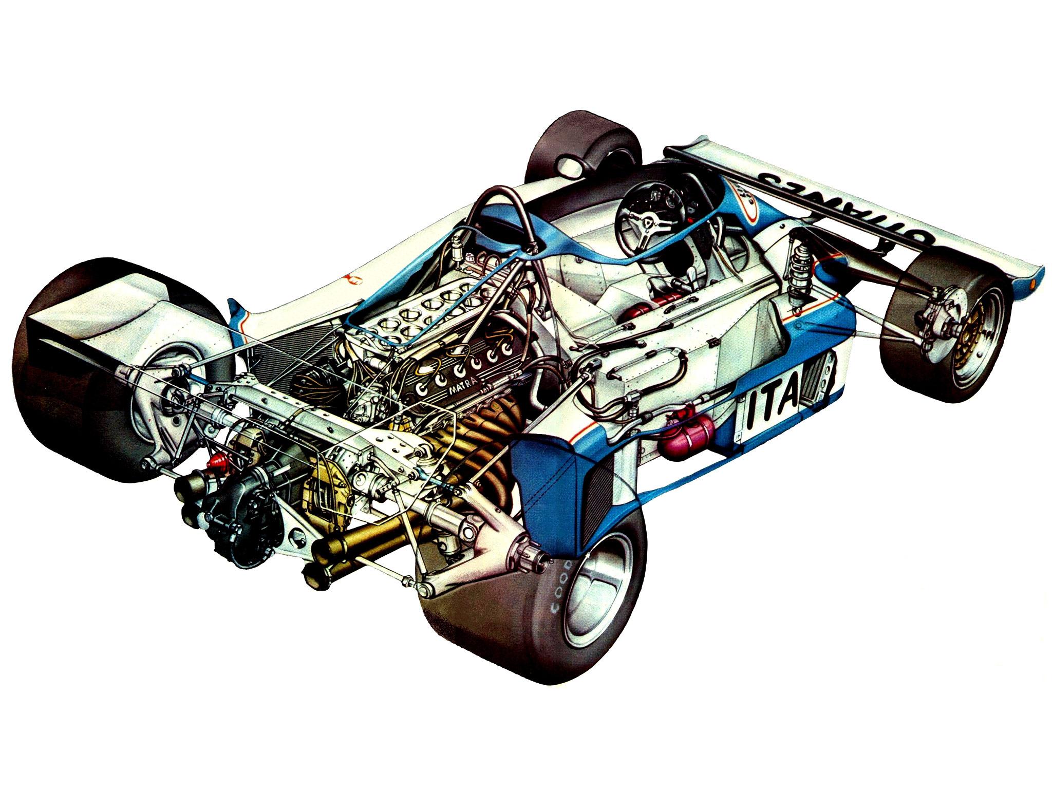 Ligier JS7 cutaway