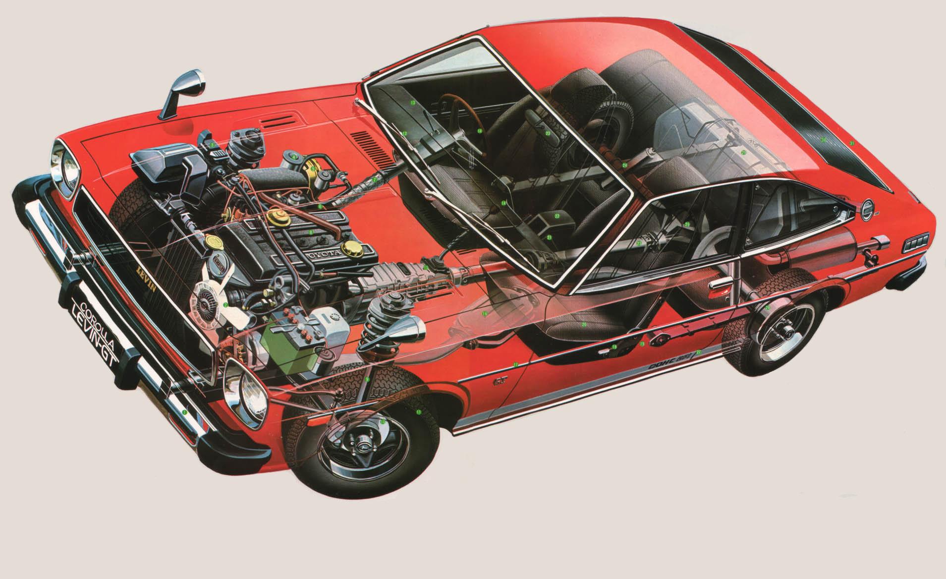 Toyota Corolla cutaway