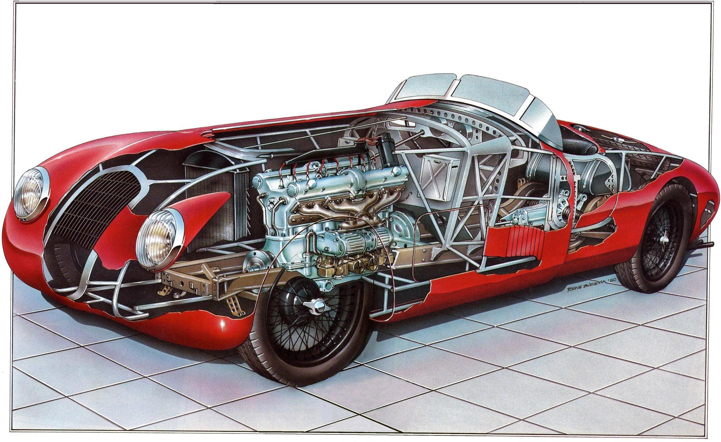 Alfa Romeo 8C 2900B cutaway