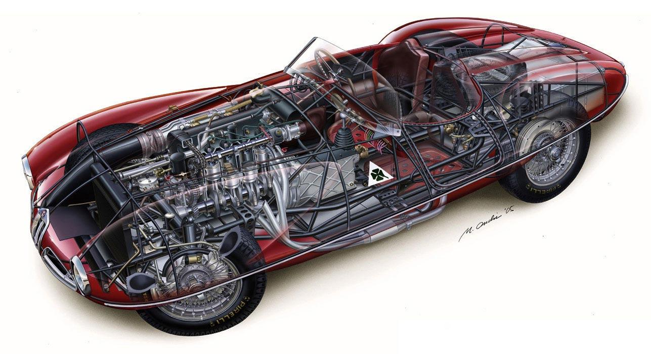 Alfa Romeo Disco Volante cutaway