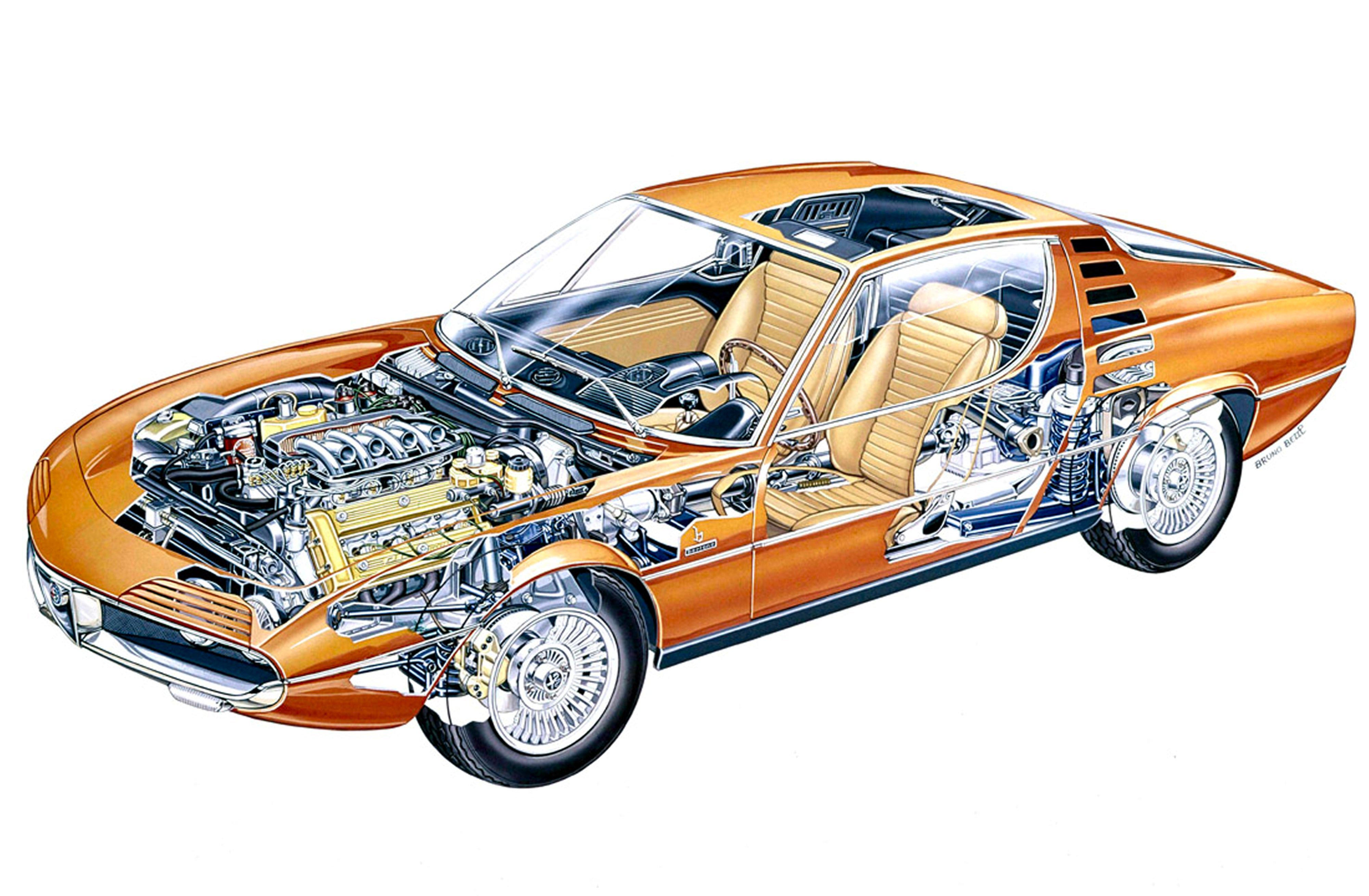 Alfa Romeo Montreal cutaway