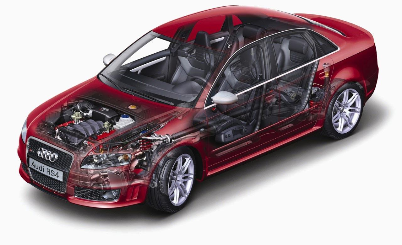 Audi RS4 cutaway