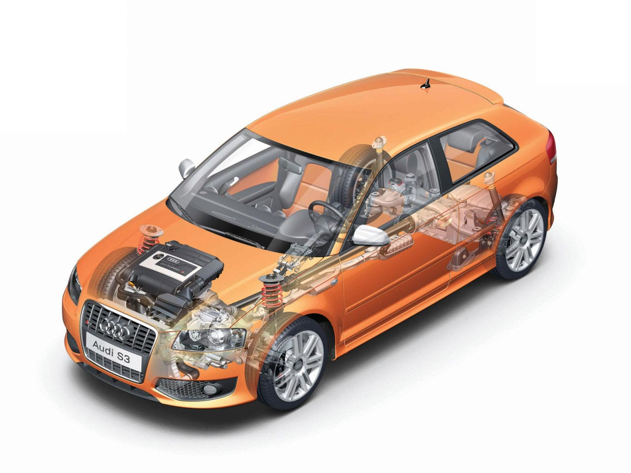 Audi s3 cutaway
