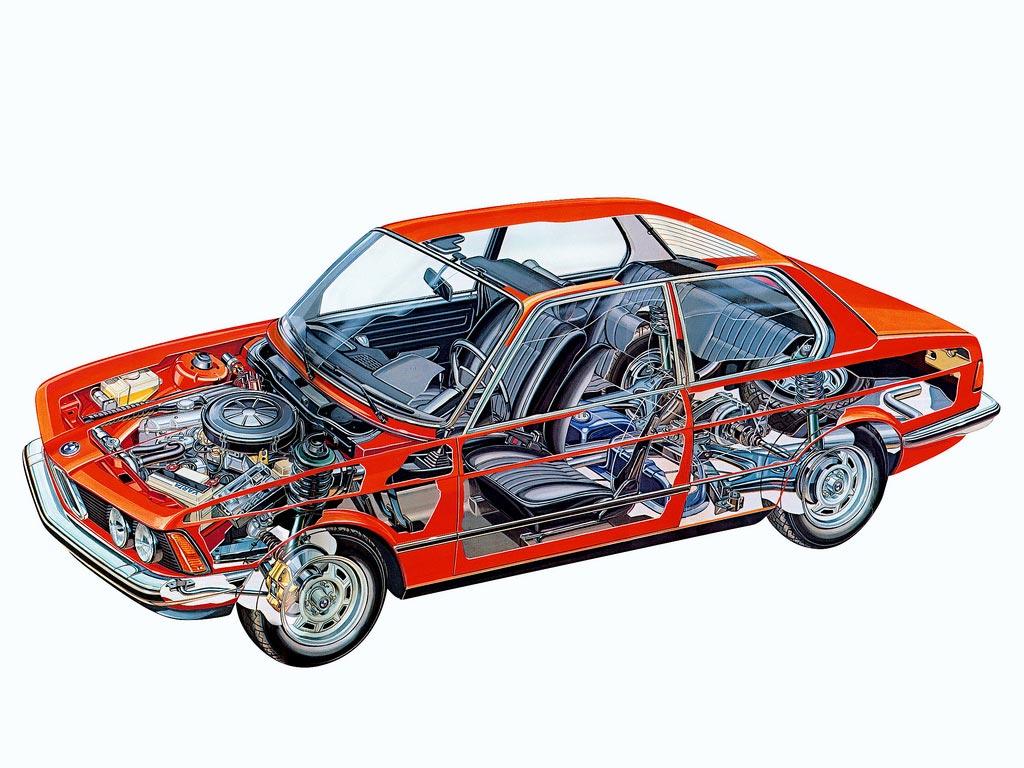 BMW 3 Series E21 cutaway
