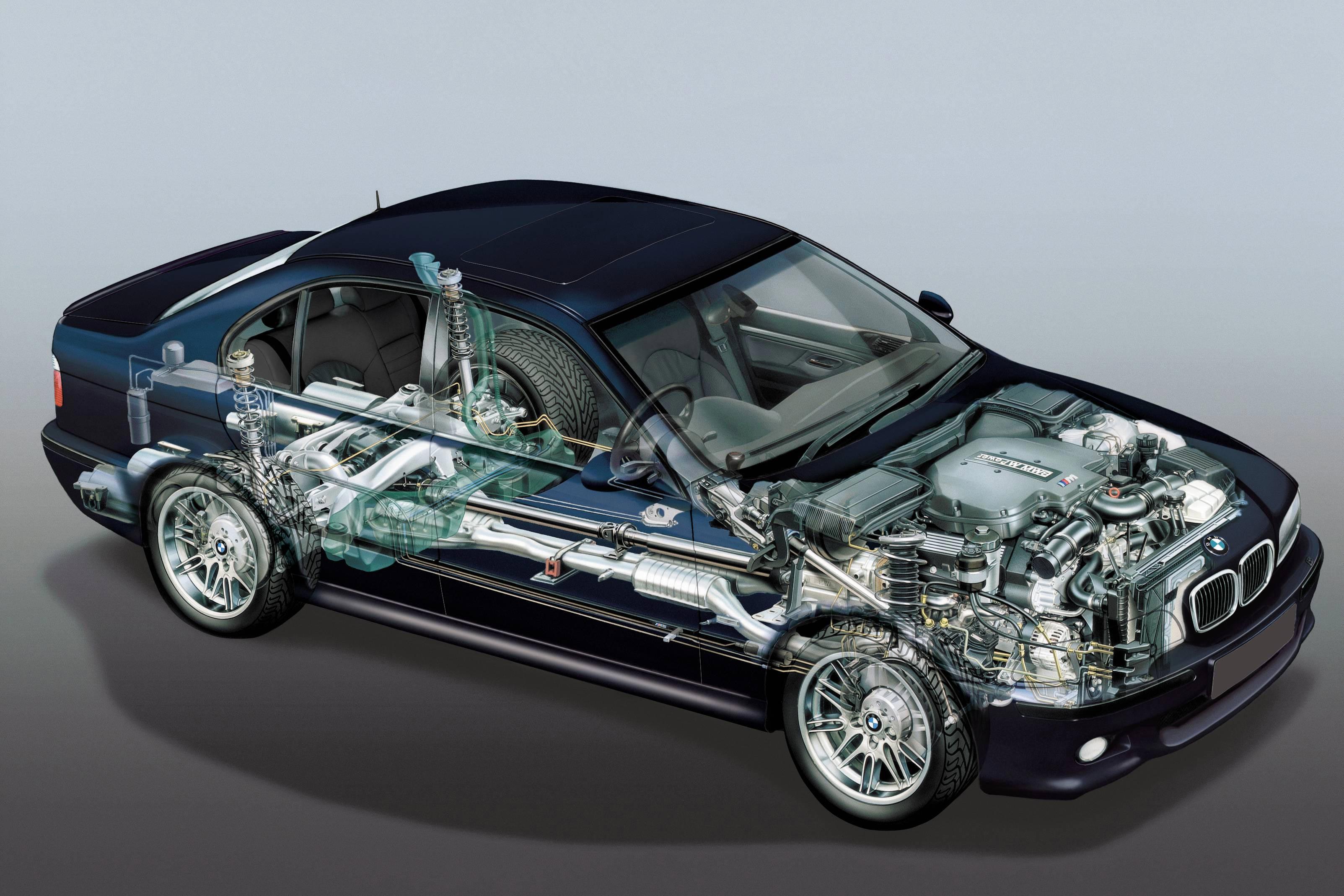 BMW 3 Series E36 cutaway