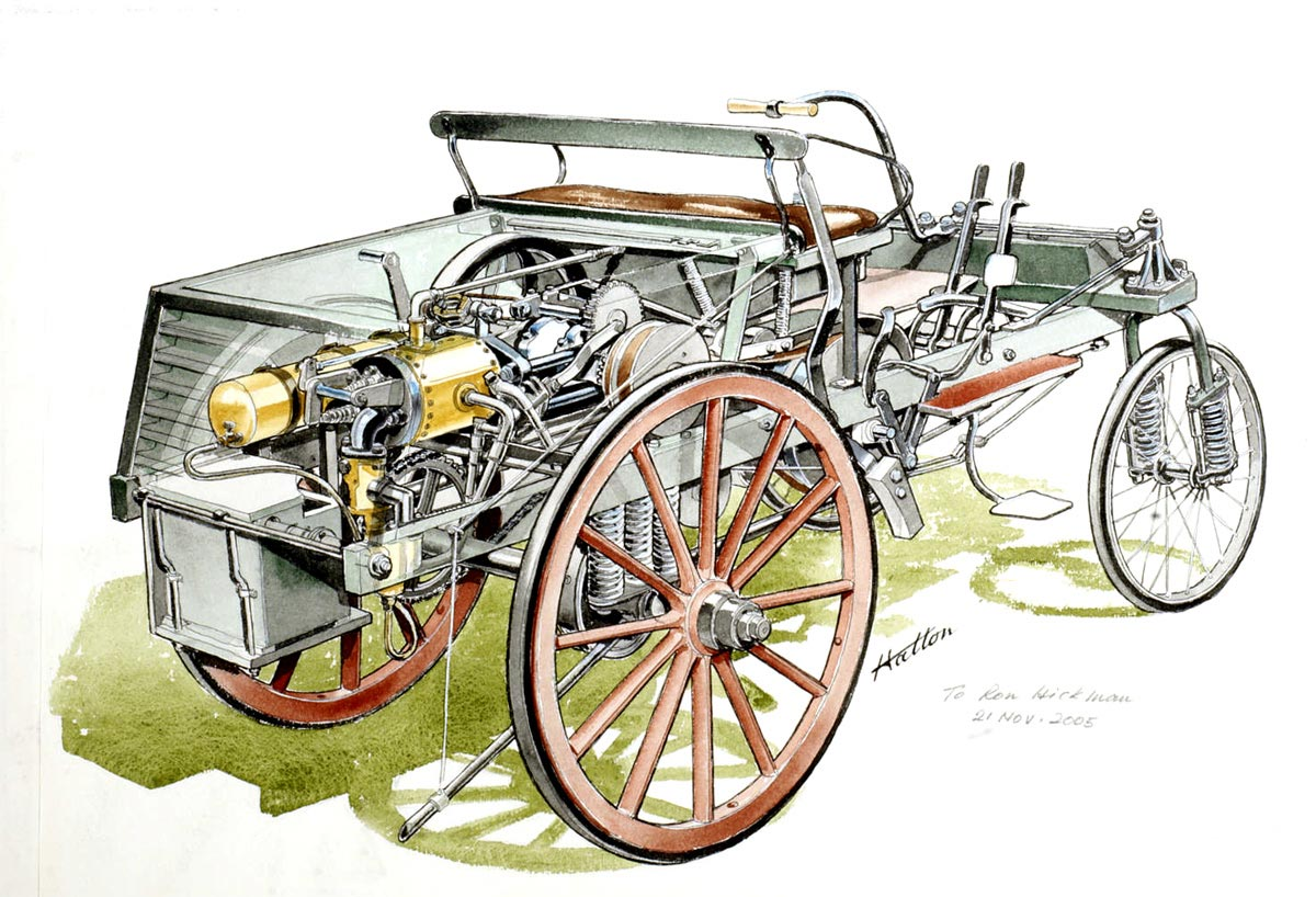 Benz Patent-Motorwagen cutaway