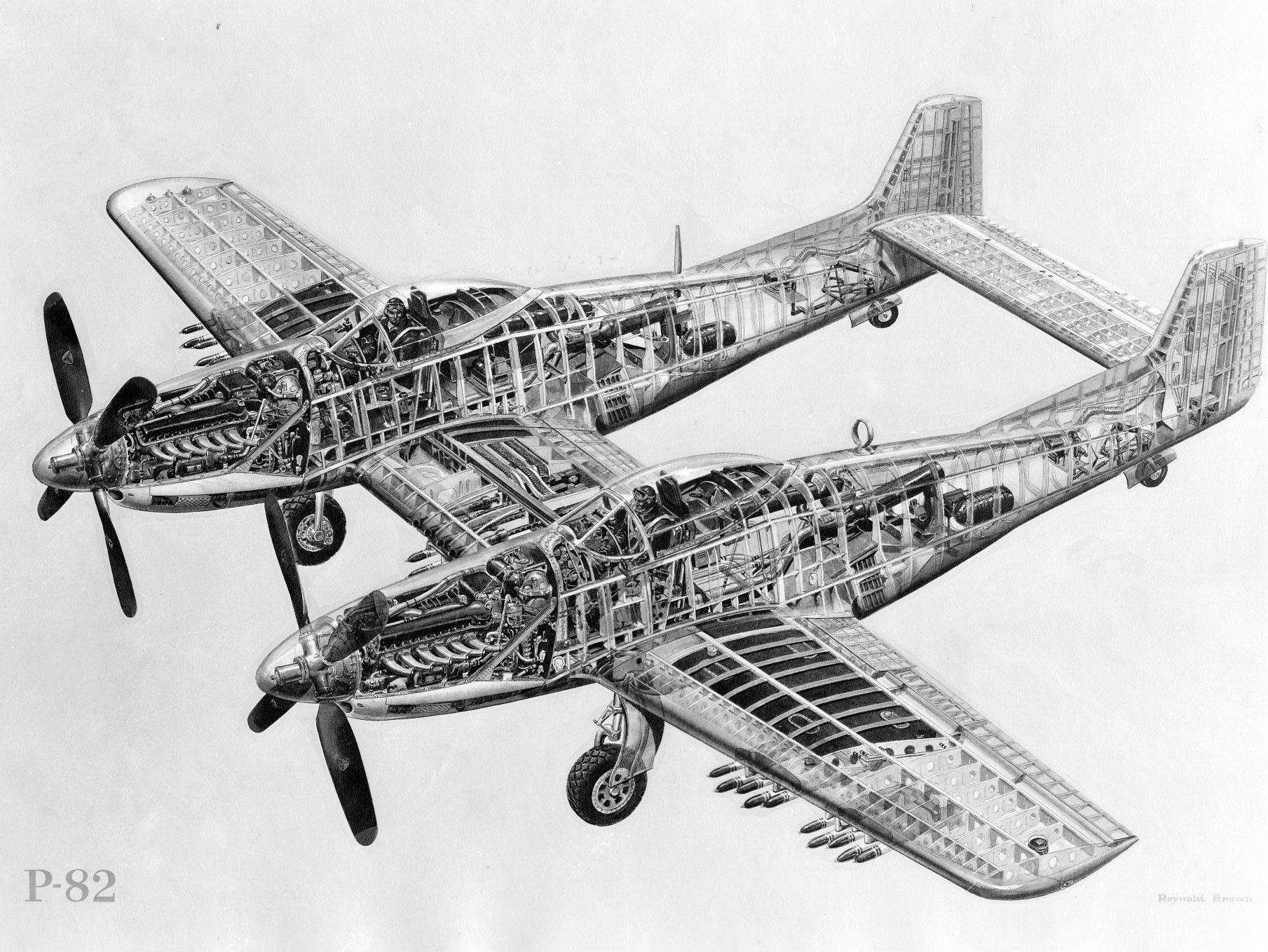 F-82 Twin Mustang cutaway