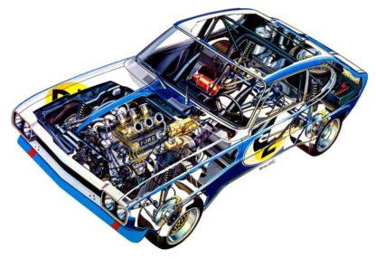 Ford Capri RS2600 cutaway