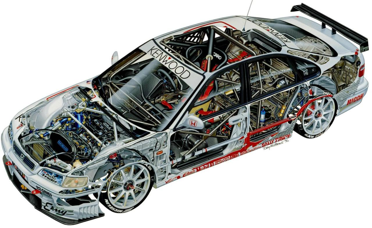Honda Accord Super Touring cutaway