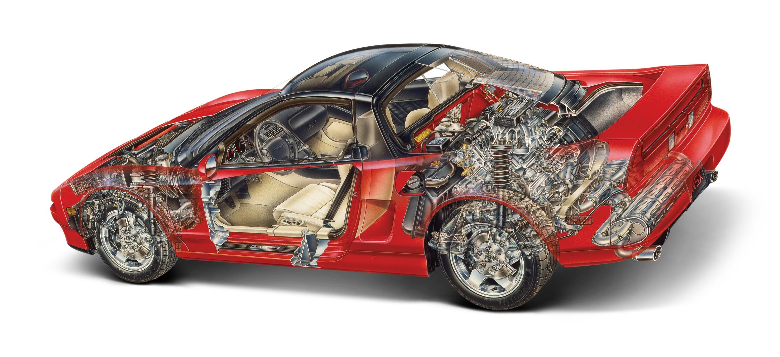 Honda NSX cutaway