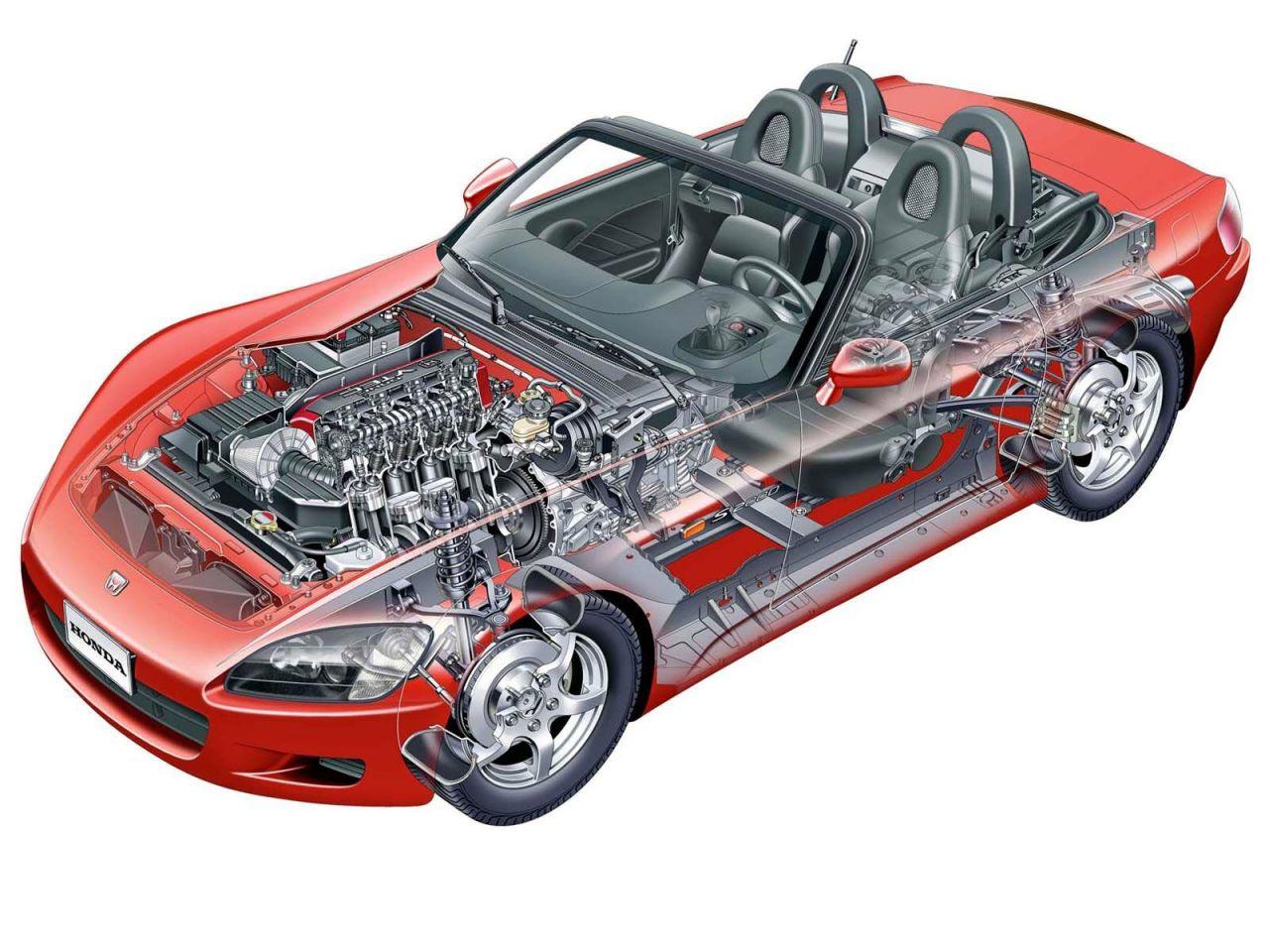 Honda S2000 cutaway