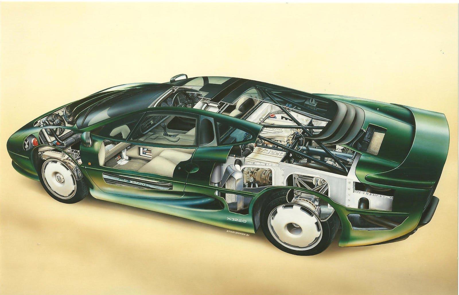Jaguar XJ220 cutaway