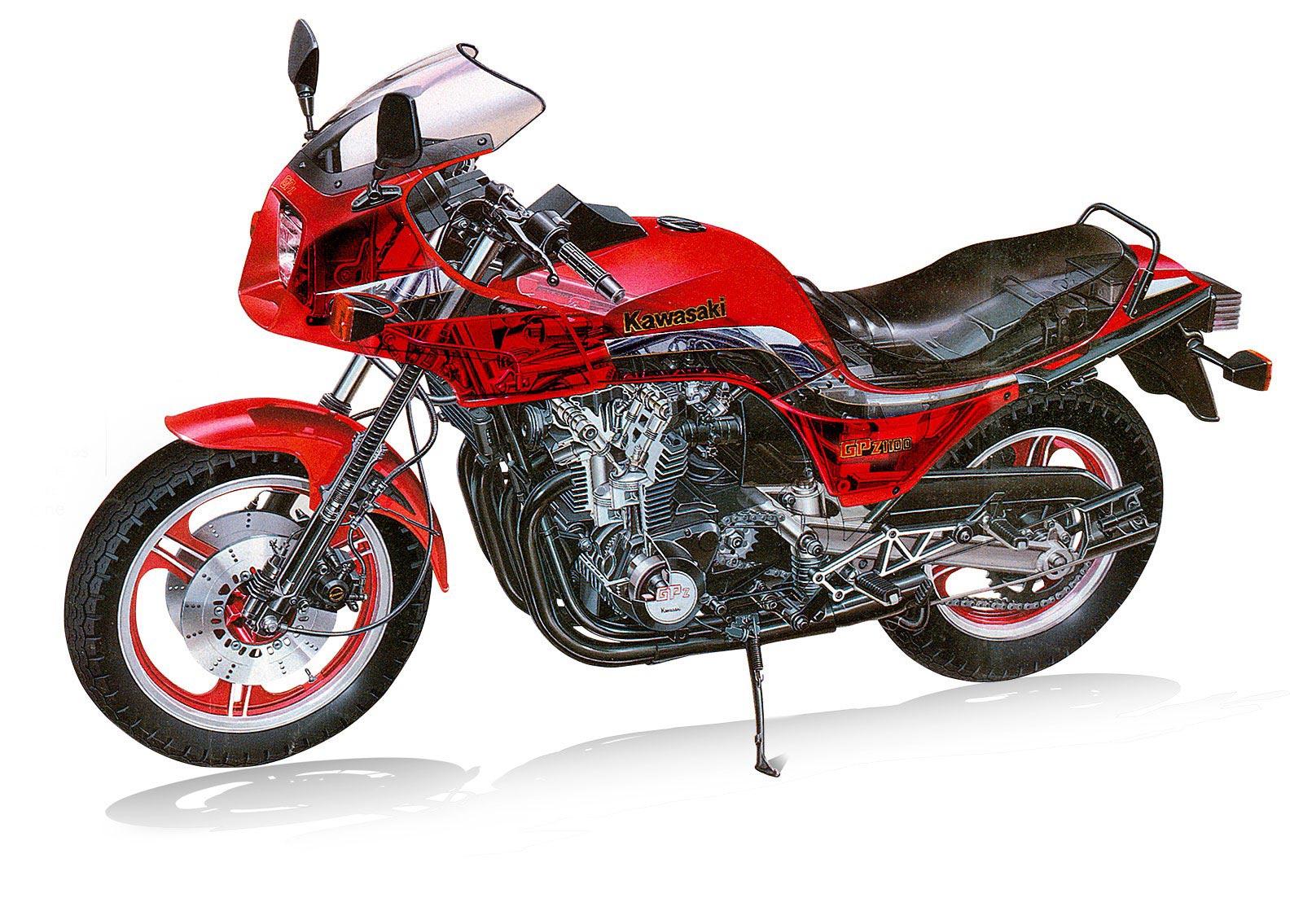 Kawasaki GPZ1100 cutaway
