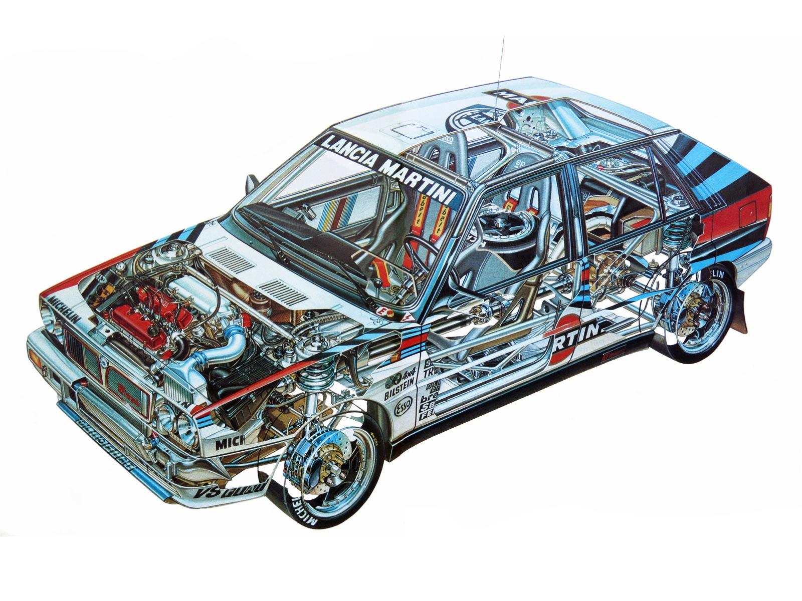 Lancia Delta HF Integrale cutaway