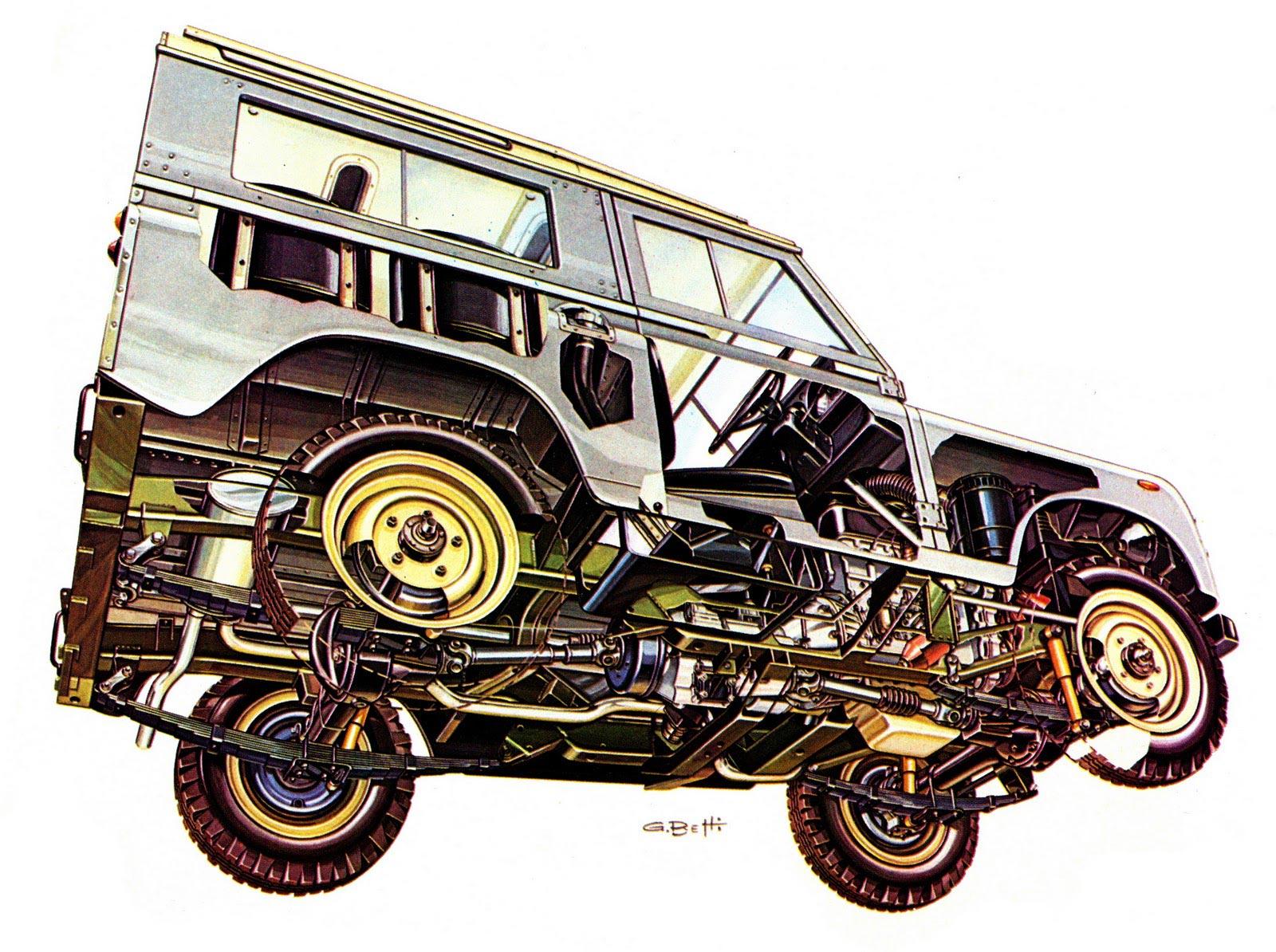 Land Rover Series III cutaway