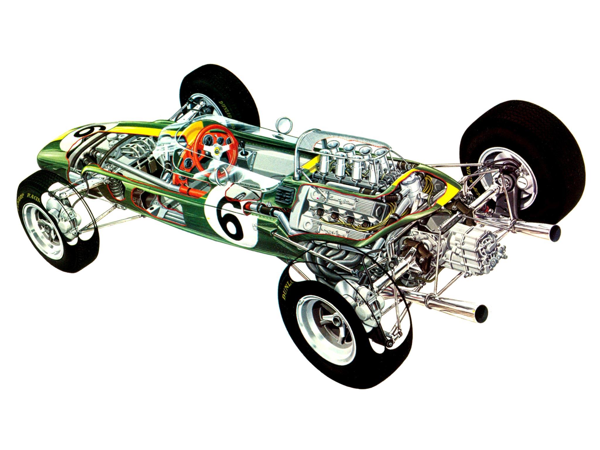 Lotus 33 cutaway