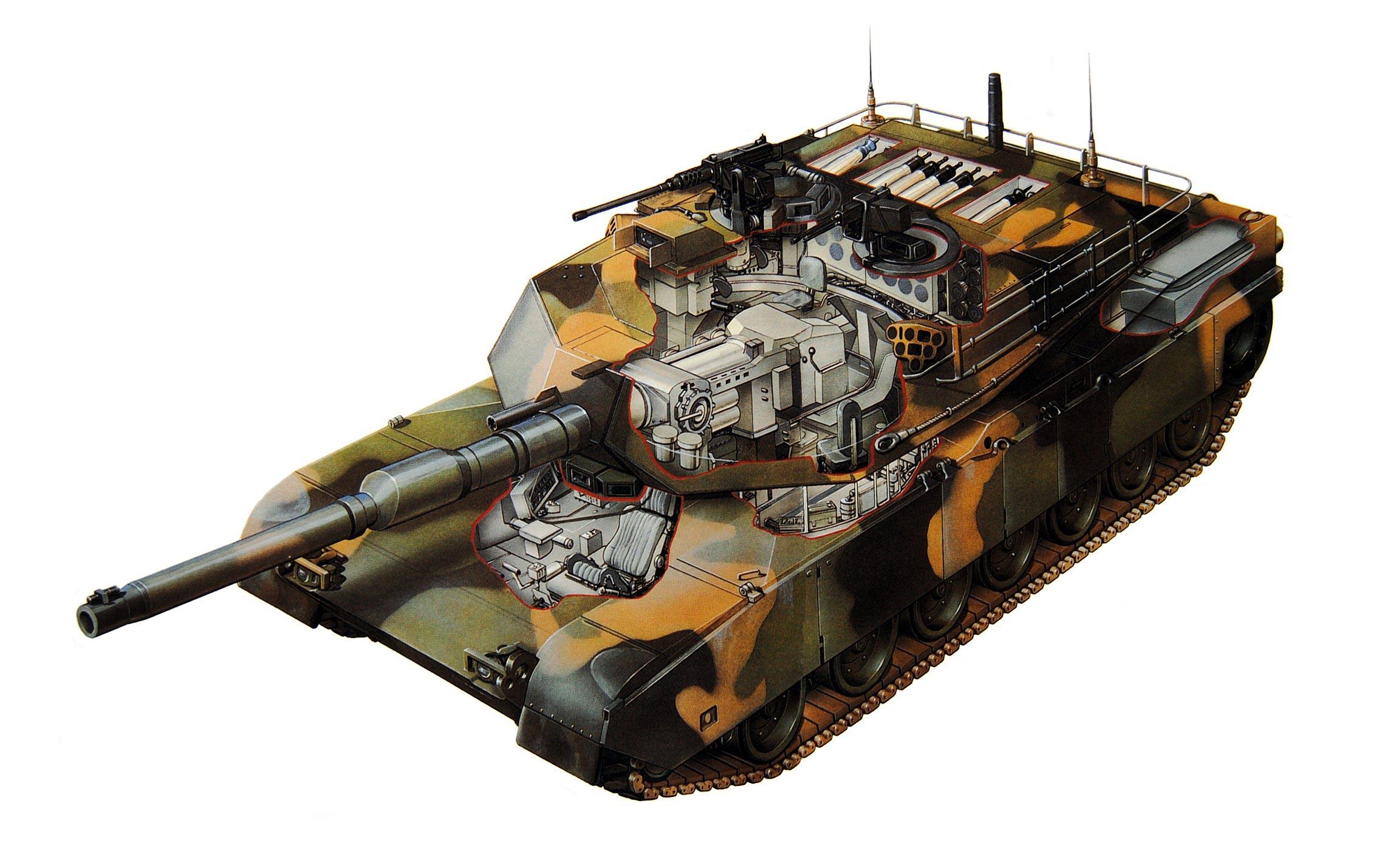M1A2 Abrams cutaway