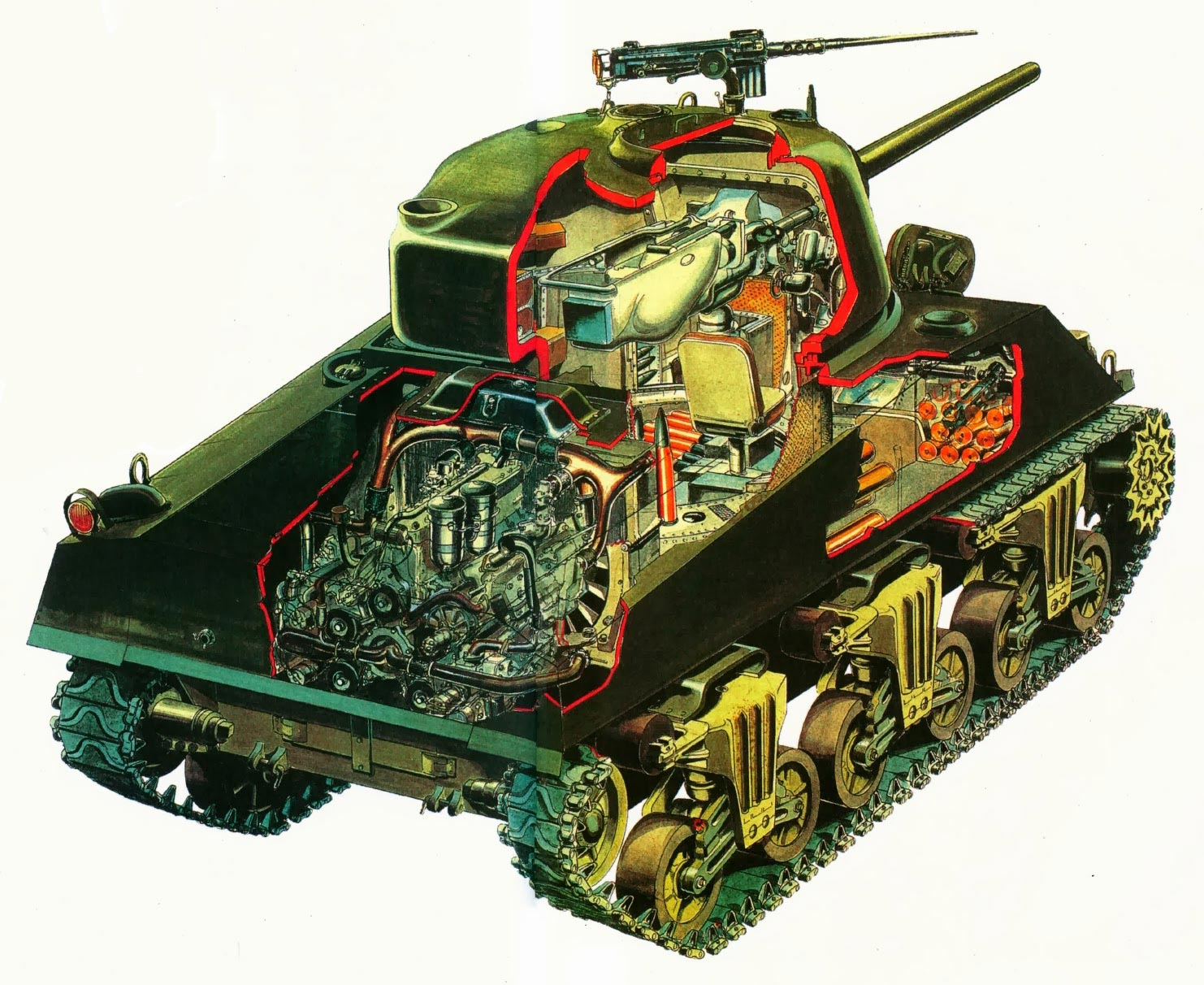 M4A4 Sherman cutaway