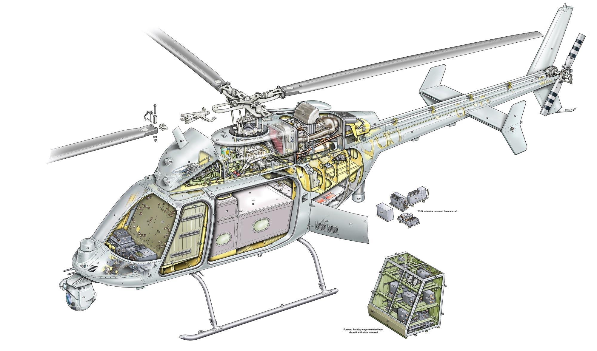 Northrop Grumman MQ-8C Fire Scout cutaway