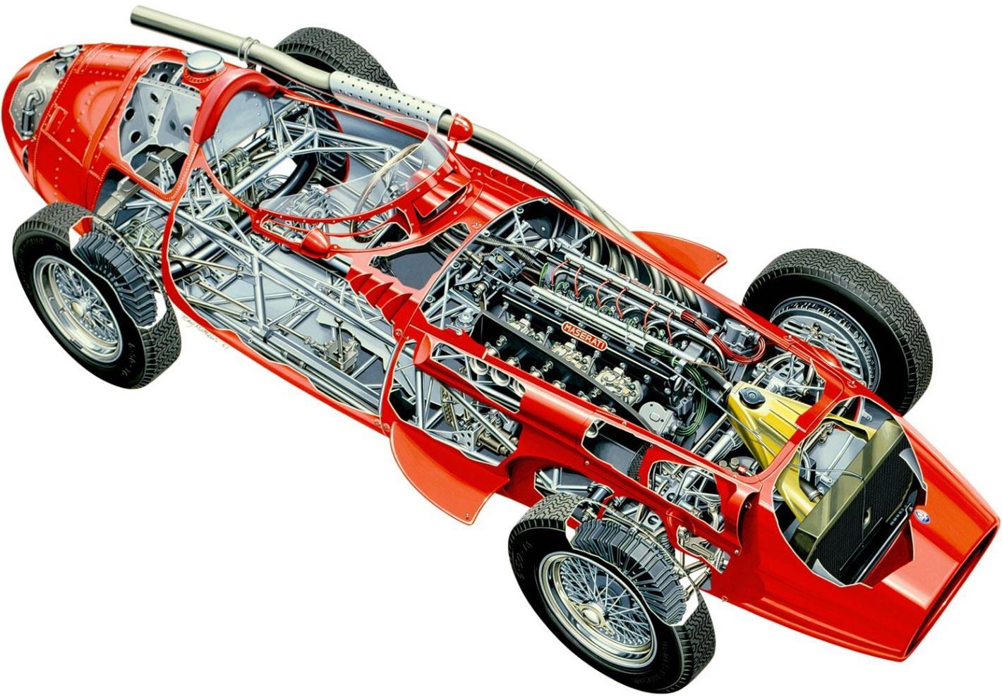 Maserati 250F cutaway