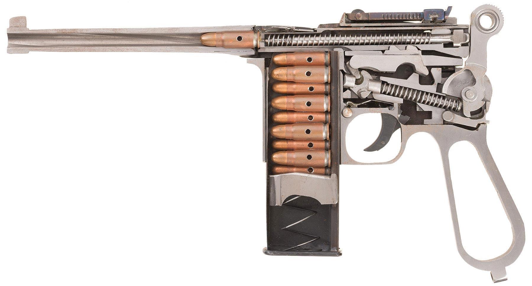 Mauser C96 cutaway