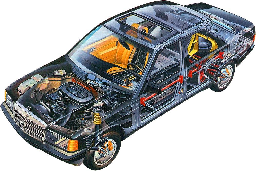 Mercedes-Benz W201 cutaway