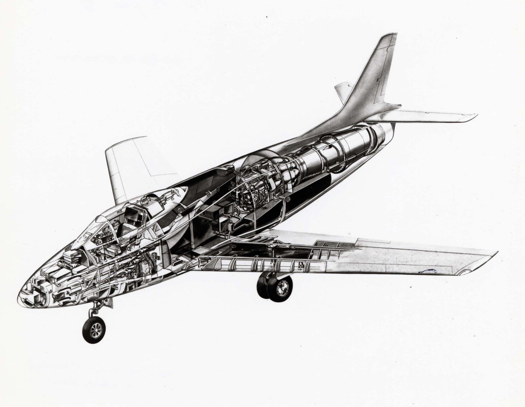 North American YF-93 cutaway