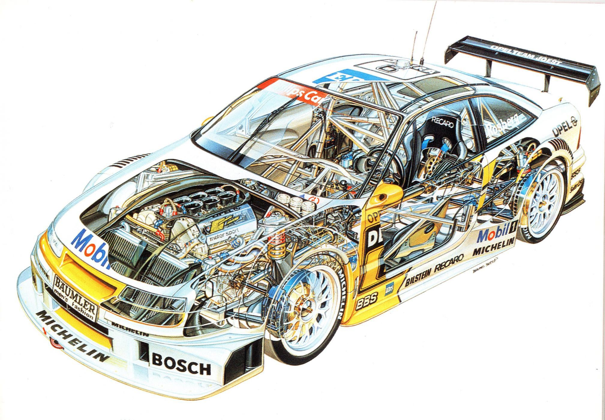 Opel Calibra DTM Race car cutaway