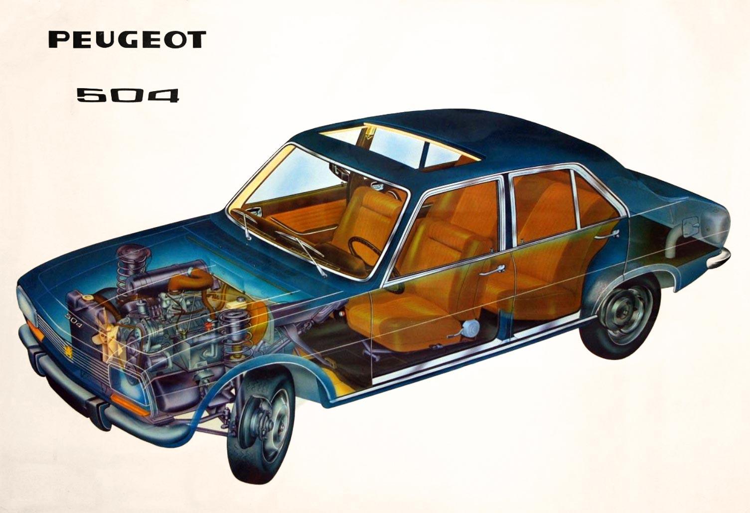 Peugeot 504 cutaway