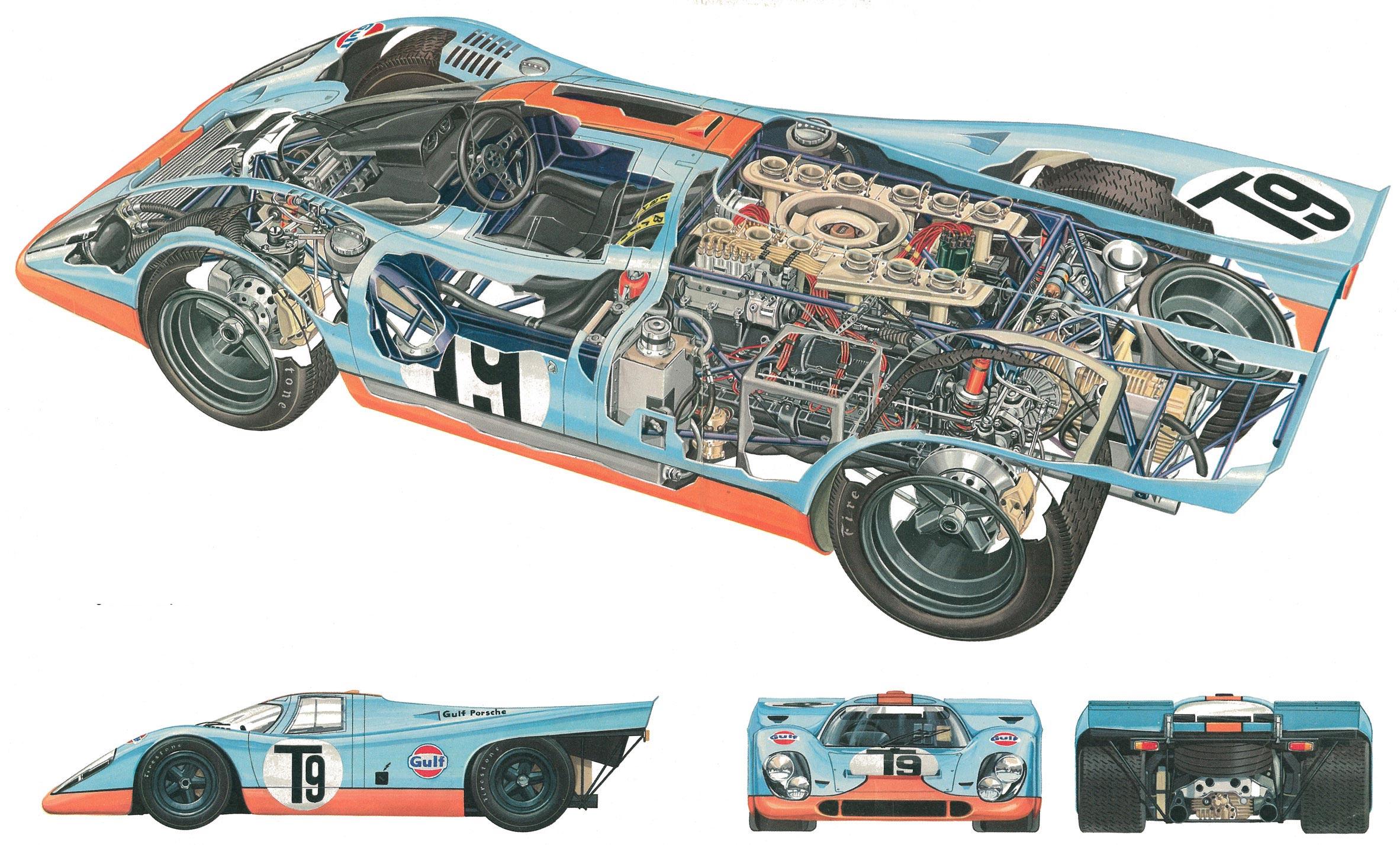 Porsche 917 cutaway