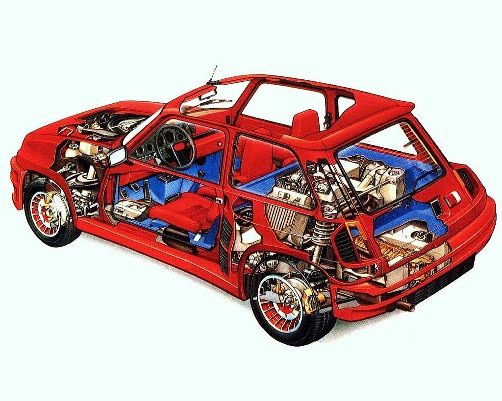 Renault 5 Turbo cutaway