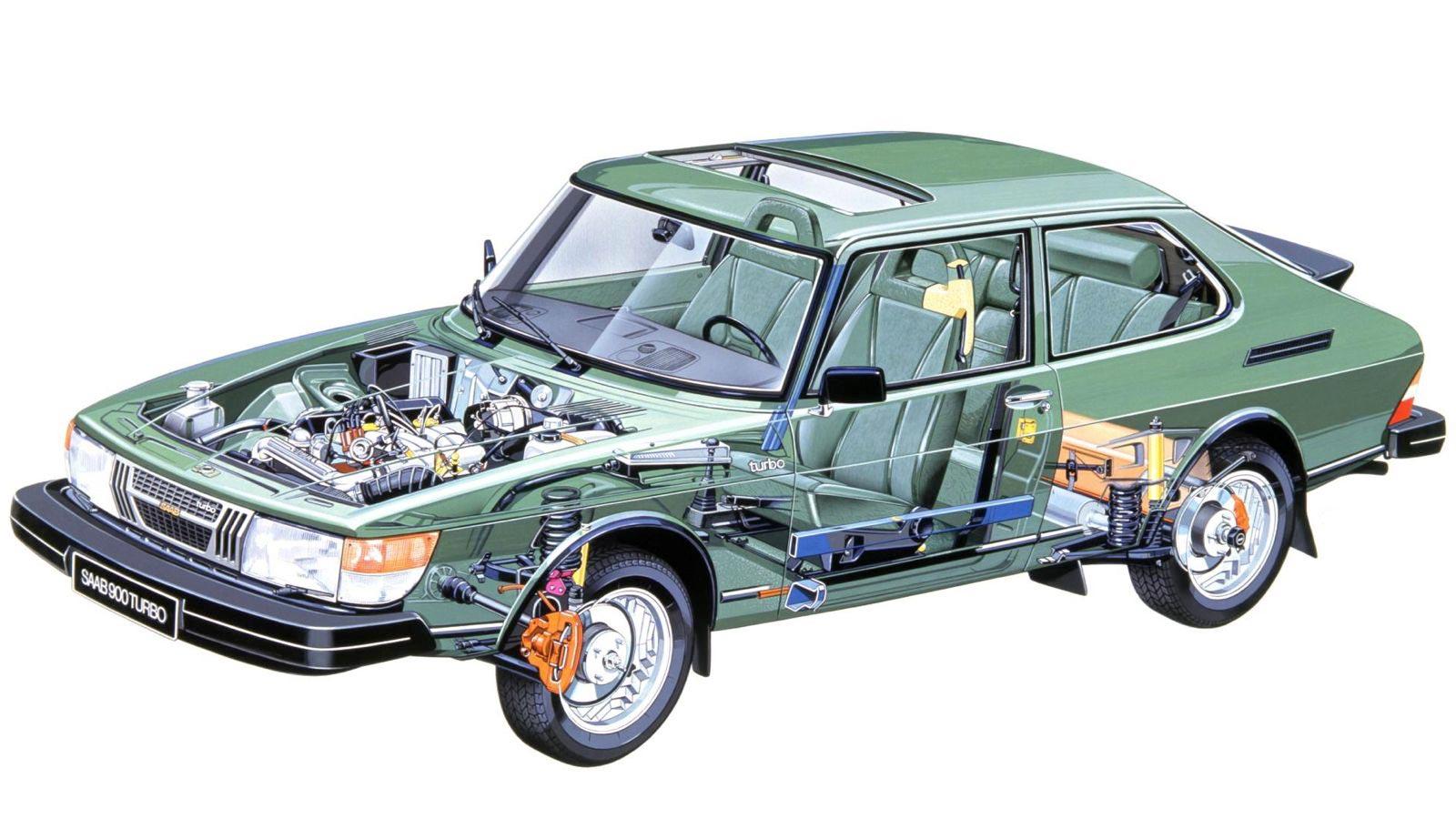 Saab 900 cutaway