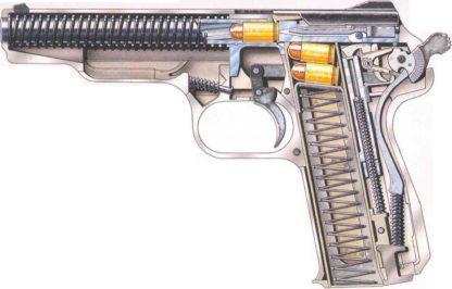 Stechkin automatic pistol cutaway