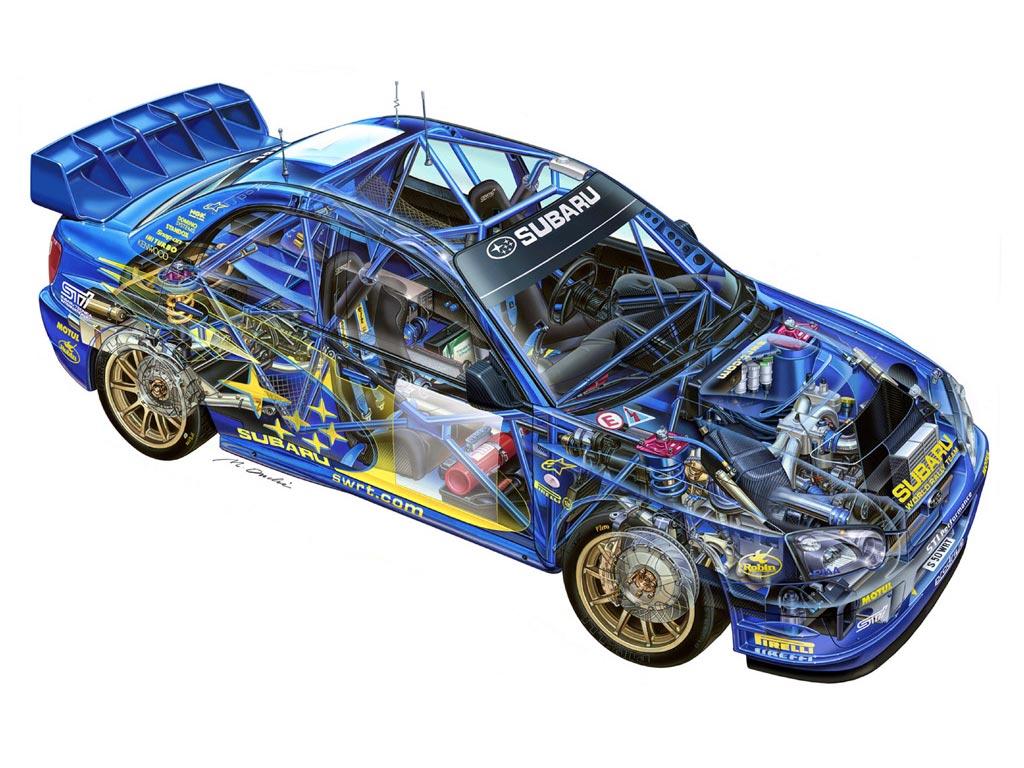 Subaru Impreza WRC cutaway