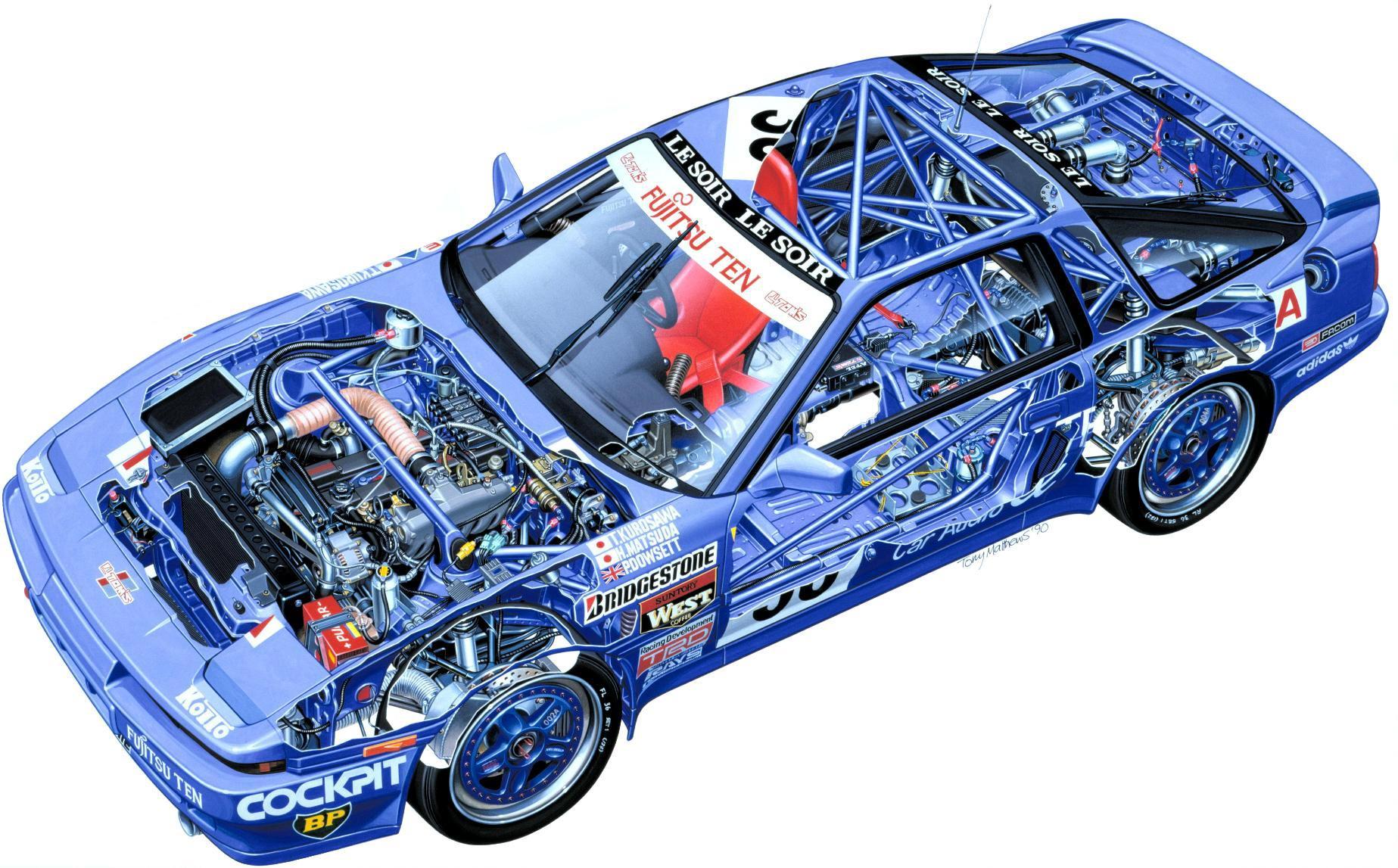 Toyota Supra cutaway