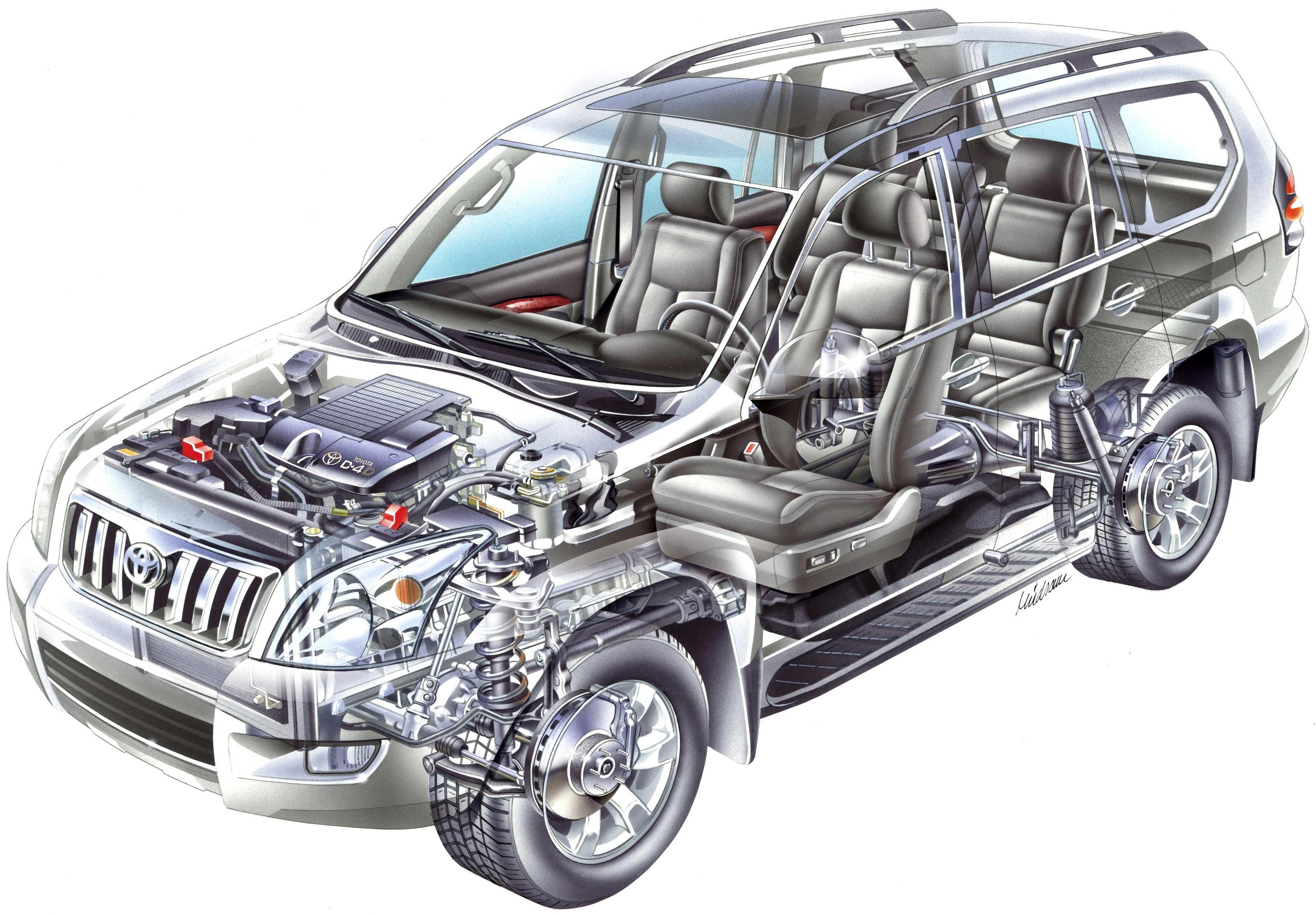 Toyota Land Cruiser cutaway
