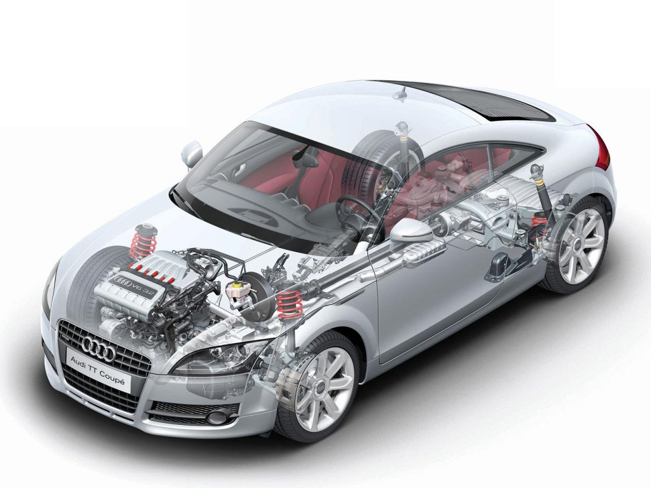 Audi TT cutaway