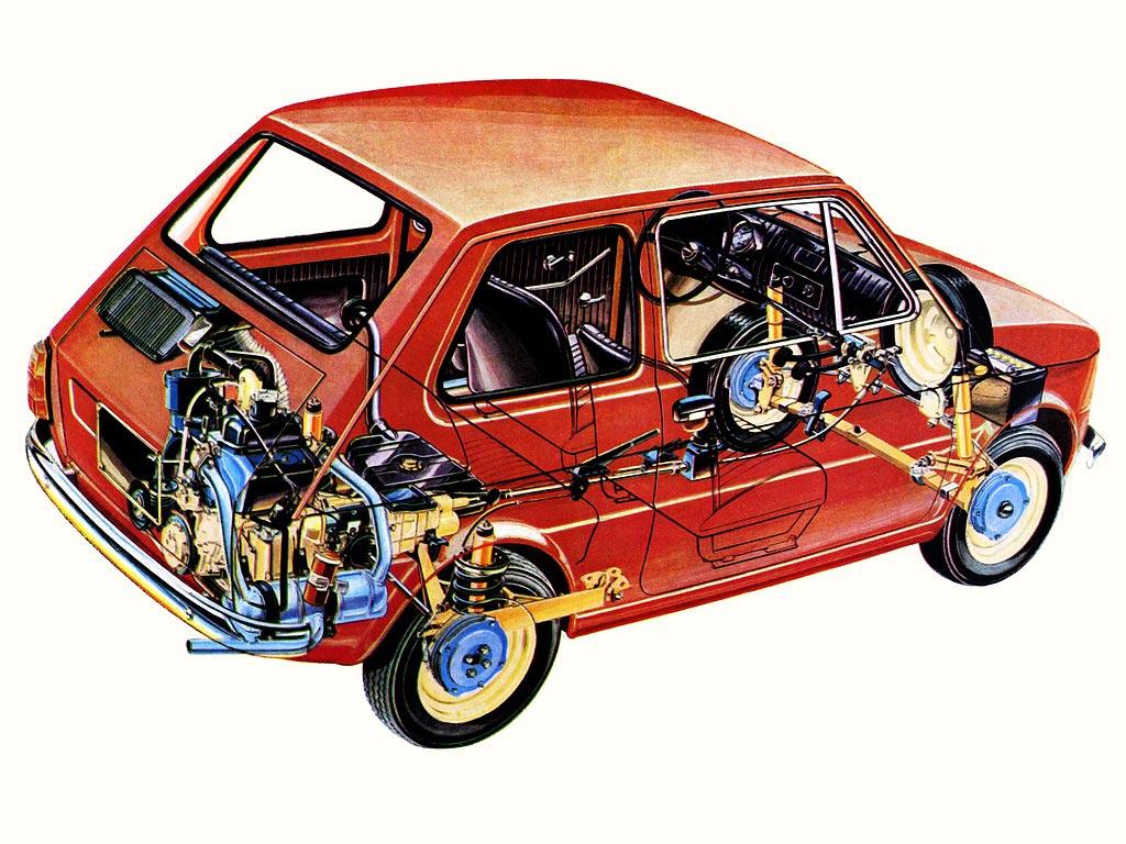 Fiat 126 cutaway
