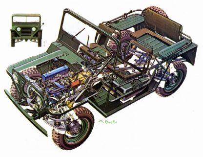 M151 utility truck cutaway