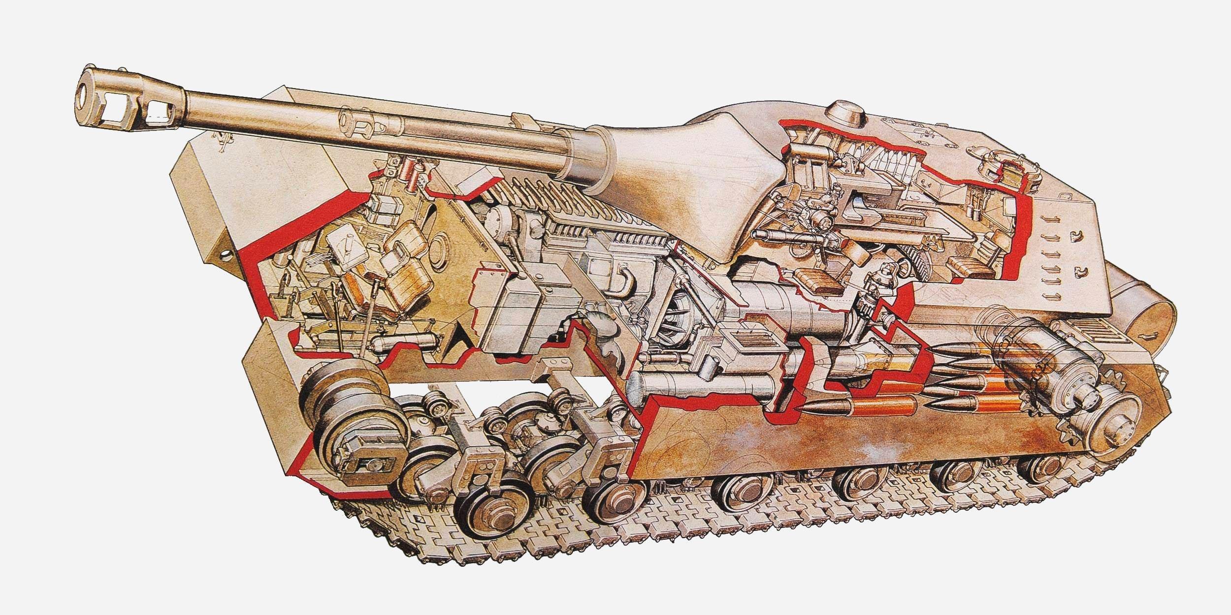 Panzer VIII Maus cutaway