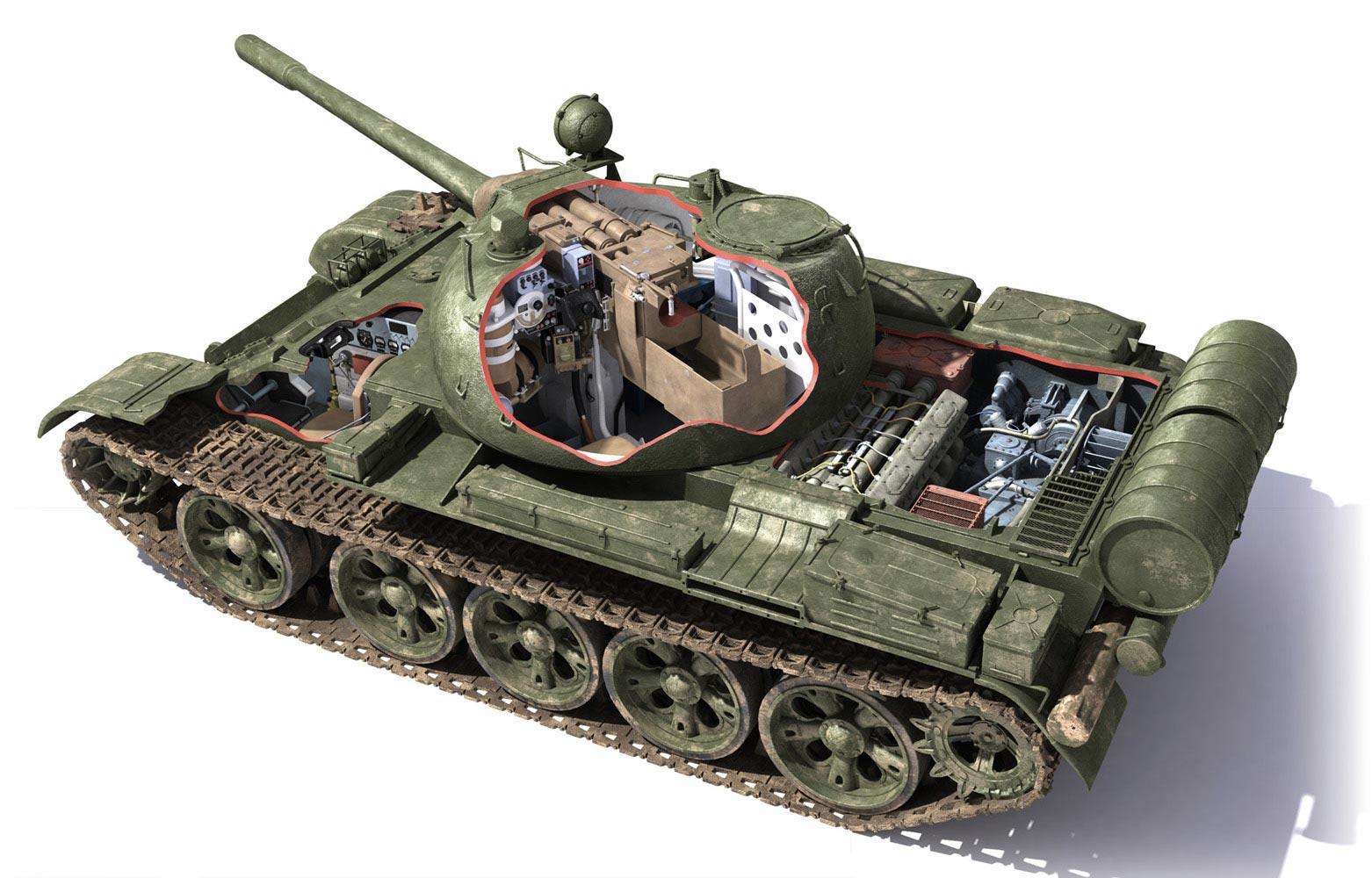 T-55 tank cutaway