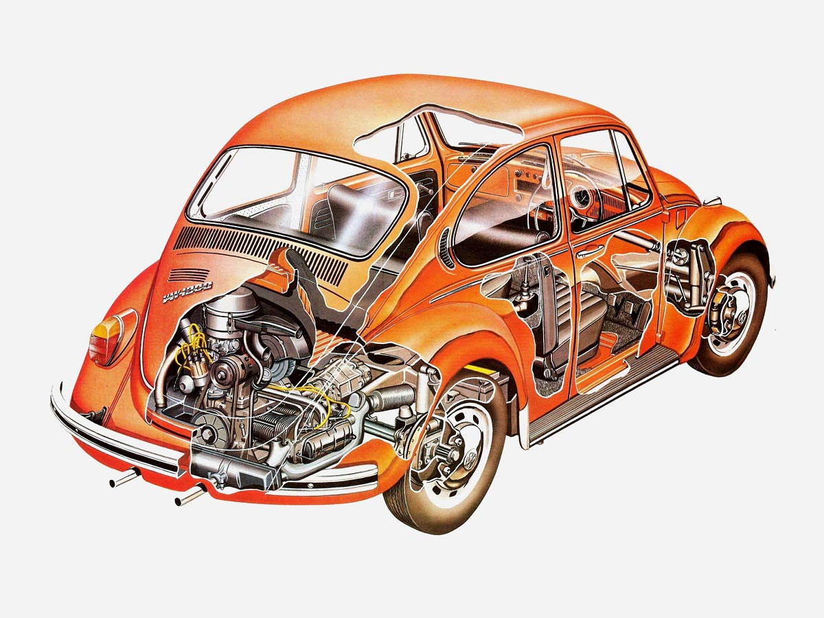 Volkswagen Beetle cutaway