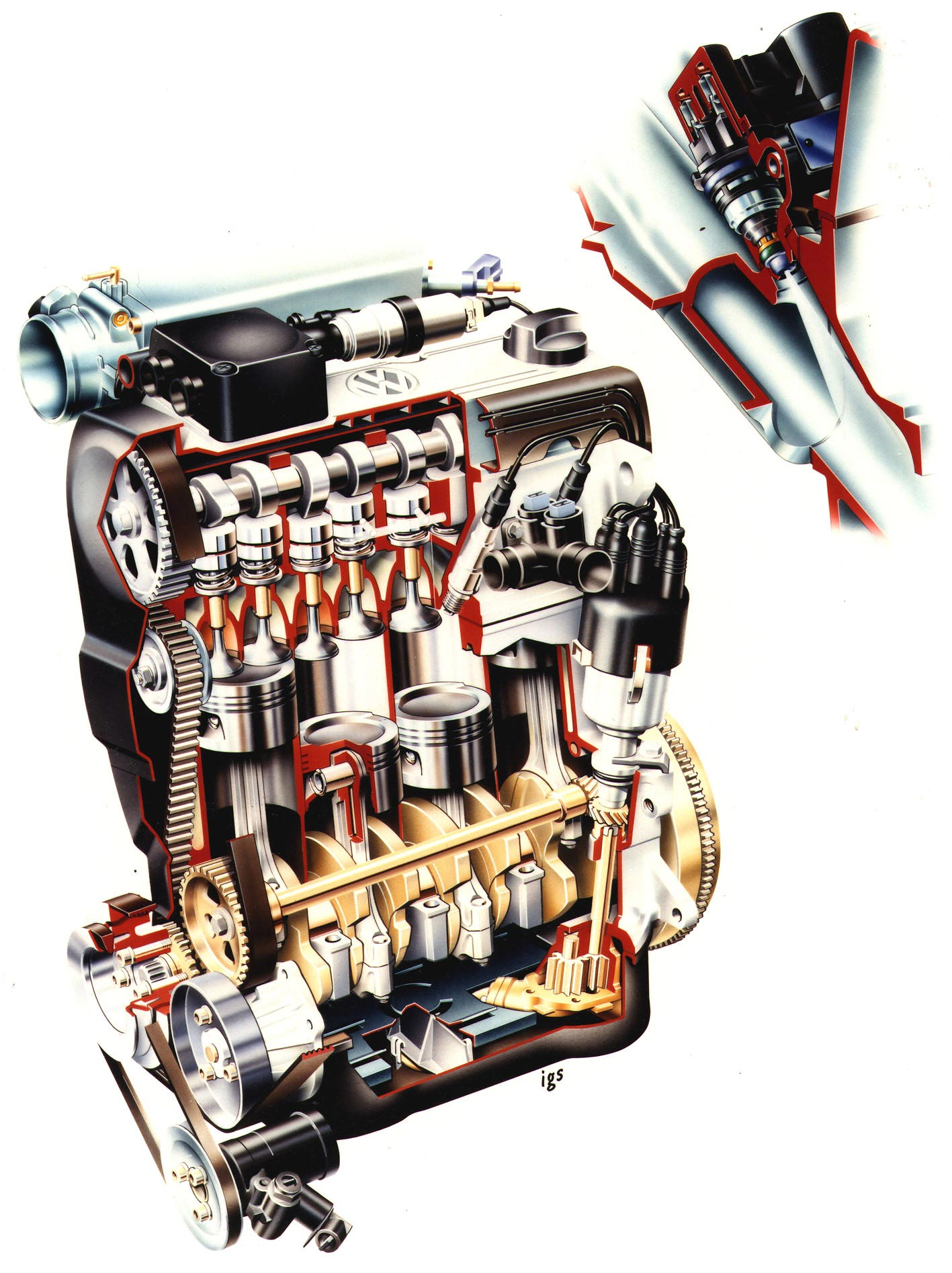 8v engine cutaway