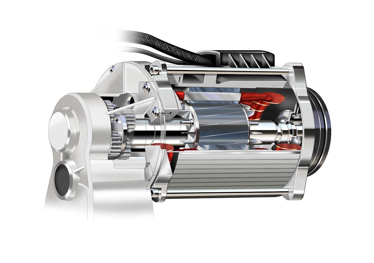 Electrical Motor cutaway