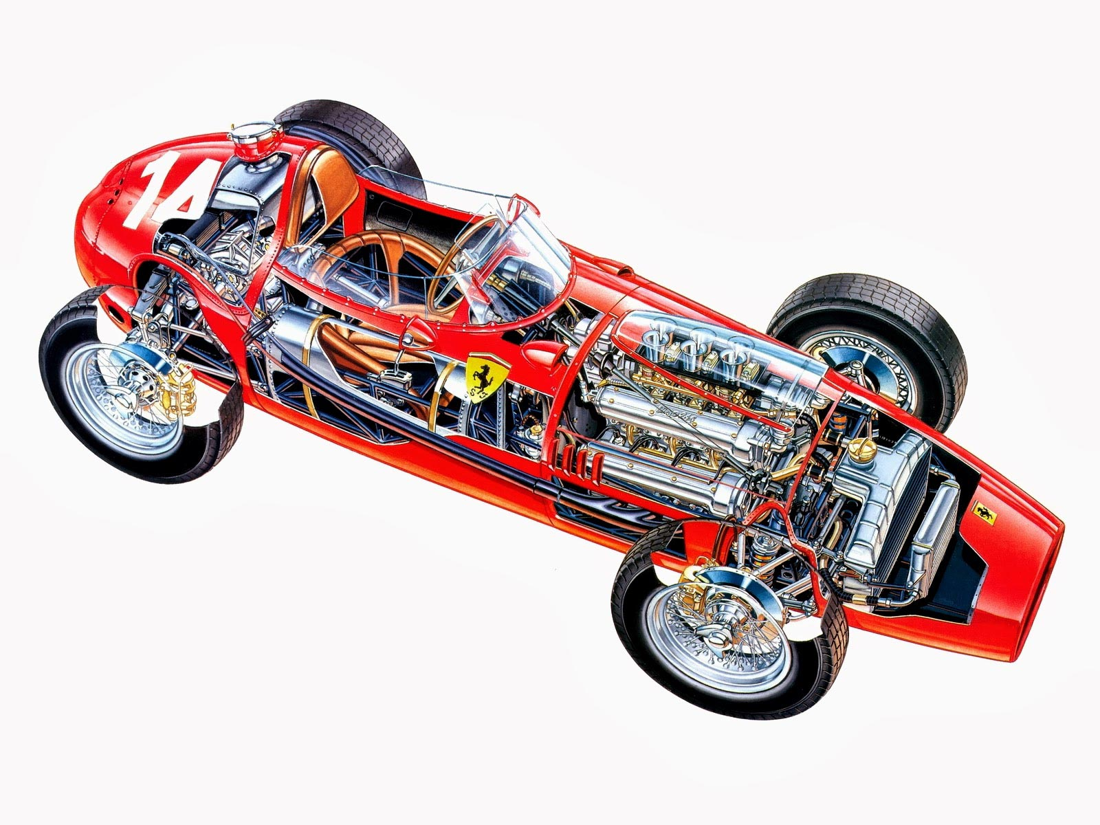 Ferrari 246 F1 cutaway
